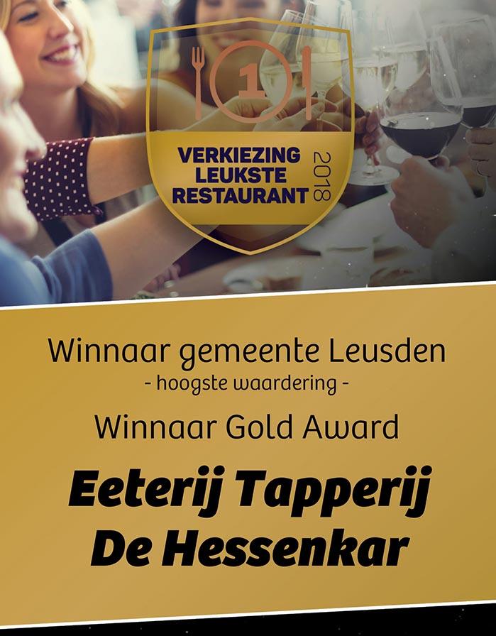 Hessenkar Achterveld Award leukste restaurant verkiezing